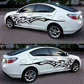 Black Car Decal Vinyl Graphics Two Side Stickers Body
