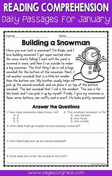 poetry comprehension worksheets third grade 25368 reading comprehension passages and questions for january reading comprehension passages