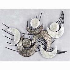 design wanddeko wandbild muschel modern metall 91x75cm