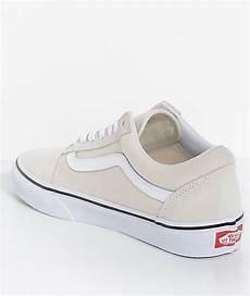vans skool birch true white skate shoes zumiez