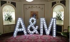 light up wedding initials wedding letter hire