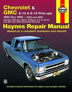 free car manuals to download 1993 oldsmobile silhouette transmission control chevrolet s 10 pick up gmc s 15 pick ups olds bravada haynes repair manual 1982 1993 hay24070