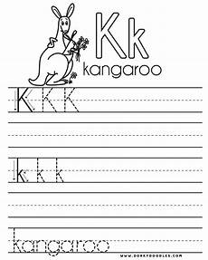 letter k preschool worksheets 24403 letter practice k worksheets dorky doodles