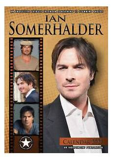 2021 ian somerhalder a3 wall calendar celebrity actor