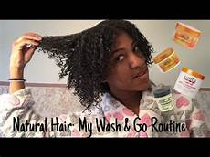 natural hair my wash go routine using cantu and ecostyler products youtube