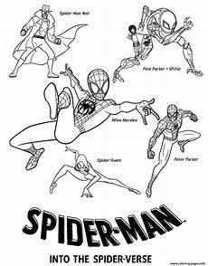 malvorlagen into the spider verse