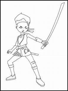 ausmalbilder druckbare code lyoko 6 comic drawing
