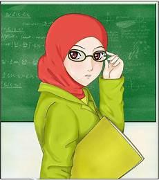 Gambar Kartun Muslimah Guru Top Gambar