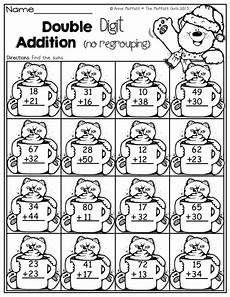 3 digit addition with regrouping coloring worksheets 9704 winter math and literacy packet grade homeschool math math addition second grade math