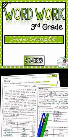 free worksheets for 3rd grade 15632 third grade word work activities whole year free sle 3rd grade words word work