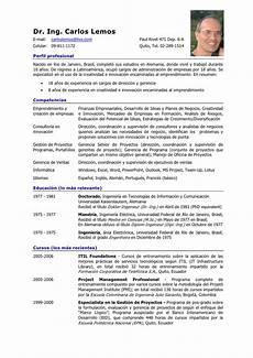 curriculum vitae curriculum vitae formato en espanol