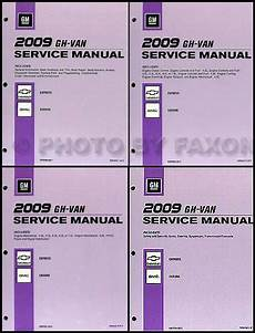 manual repair free 2009 gmc savana 1500 transmission control 2009 express van savana repair shop manual 4 volume set original chevy gmc