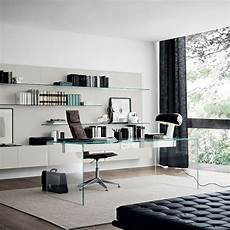 glass home office furniture air modern glass desk by gallotti radice klarity glass