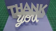 thank you card template cricut pop up thank you card tutorial 001