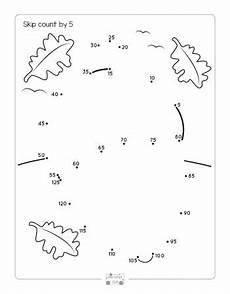 skip counting dot to dot worksheets 11902 fall dot to dot skip counting worksheets by 2s 5s and by 10s itsy bitsy