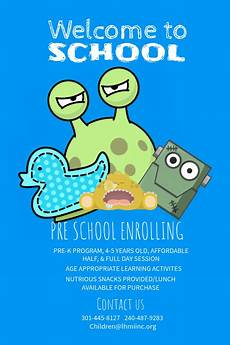 copy of welcome to school blue posters postermywall