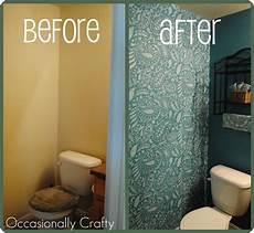 bathroom wall stencil ideas stenciled bathroom cutting edge stencil giveaway and review occasionally crafty stenciled