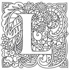 mandala coloring pages letters 17930 mendhika letter l threads unique and awesome embroidery designs