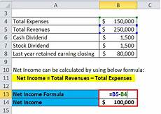 retained earnings formula calculator excel template