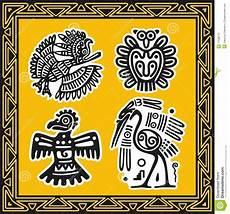 Indianische Muster Malvorlagen Bilder Set Alte Indianische Muster V 246 Gel Vektor Abbildung