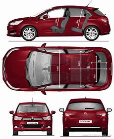 citroën c4 dimensions 2010 citroen c4 s2 hatchback blueprints free outlines