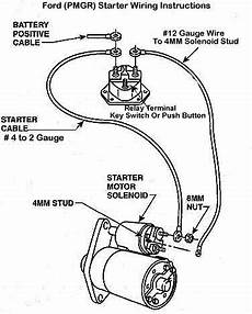 12 volt solenoid wiring diagram for f250 1990 new pmgr starter issue ford bronco forum