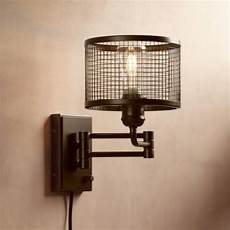 industrial cage plug in swing arm wall light industrial cage plug in swing arm led wall l 32y16