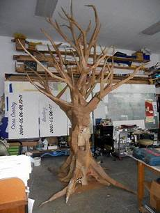 baum basteln pappe quot cardboard tree quot set design haunt witches shack