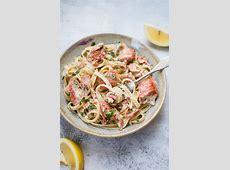 creamy salmon on pasta_image