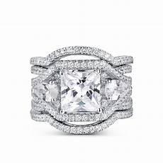 tinnivi vintage princess cut white sapphire 925 sterling silver wedding ring tinnivi jewelry