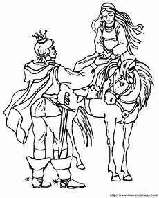 ausmalbilder prinzessin und prinz bild pferd und prinzessin