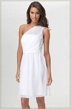 donna ricco one shoulder white dress with sequin trim