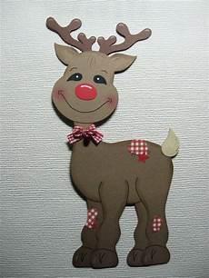 fensterbild rentier rudi weihnachten aus tonkarton