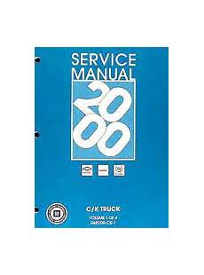 car repair manuals download 2000 chevrolet express 2500 windshield wipe control 2000 chevrolet gmc ck8 new style trucks factory service manual for silverado tahoe yukon