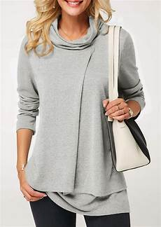 layering blouse solid layered sleeve blouse fairyseason