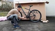 fahrrad unboxing cube aim pro 2018 29 zoll