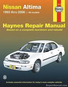 auto repair manual online 1994 nissan altima security system haynes nissan altima 1993 2006 auto repair manual