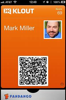 klout updates iphone app with passbook integration wants you to show off with klout card