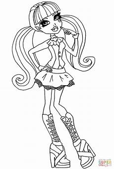 high draculaura coloring page free printable