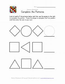 shape patterns worksheets 244 patterns worksheet 1easybw