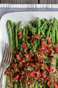 easy asparagus recipe with mediterranean salsa the mediterranean dish