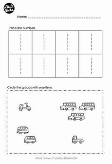 probability worksheets tes 5892 free number 1 worksheet for pre k level practice to trace and count preschool math