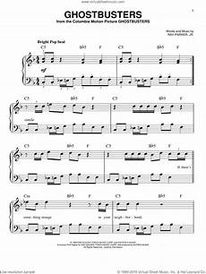 jr ghostbusters sheet music for piano solo pdf