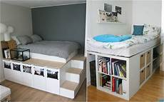 Halbhohes Bett Mit Treppe - hochbett selber bauen ideen schlafzimmer k c bcchenschr