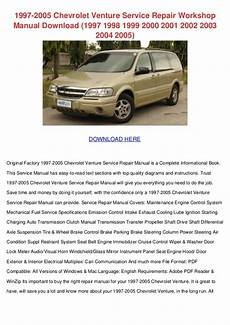 service repair manual free download 2005 chevrolet express 2500 engine control 1997 2005 chevrolet venture service repair workshop manual download 1