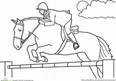color the jumping worksheet education