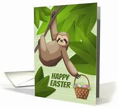 Sloth Easter Basket Ideas Everyday Savvy Sloth In A Tree Holding A Easter Egg Basket For Easter