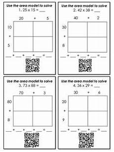 area model division worksheets 4th grade 6691 area model multiplication two digit by two digit classroom doodads multiplication math
