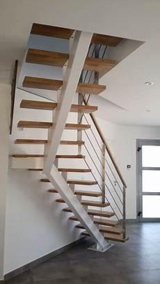 Escalier Quart Tournant Sur Mesure Escalier Quart Tournant Sur Limon Central Metal 224