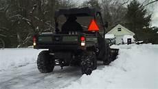 deere gator 825i plowing snow 2 18 2017